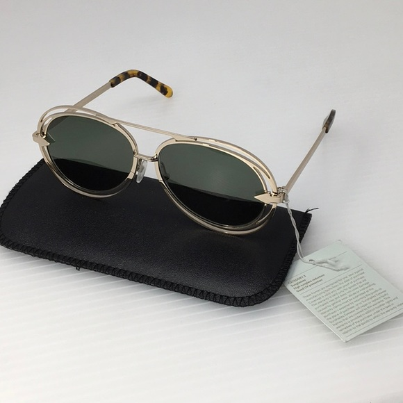 d027b27a3a3 New Karen Walker Jacques Gold Aviator Sunglasses